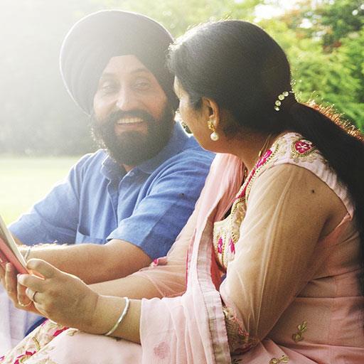 happy World mature couple